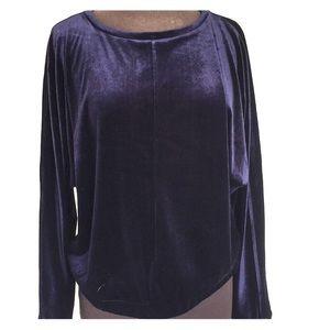 Cupio Velvet Sweatshirt Midnight Blue
